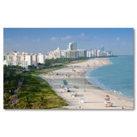 Αφίσα (Miami, ενωμένος, κράτη, κτίρια, ηλιοθεραπεία, καλοκαίρι)